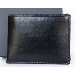 Luxusní černá kožená peněženka s důmyslným designem