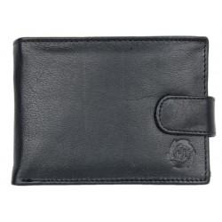 Černá pánská kožená peněženka z měkké kůže s upínkou