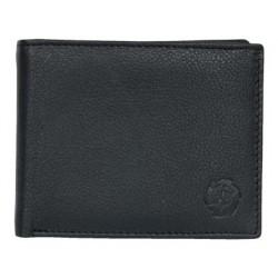 Černá pánská kožená peněženka akorát tak velká z měkké kůže