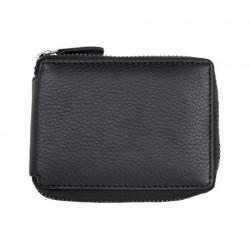 Pánská malá kapesní peněženka na kovový zip s ochranou dat na kartách