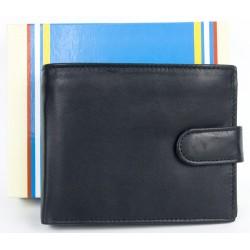 Kvalitní černá kožená peněženka s upínkou
