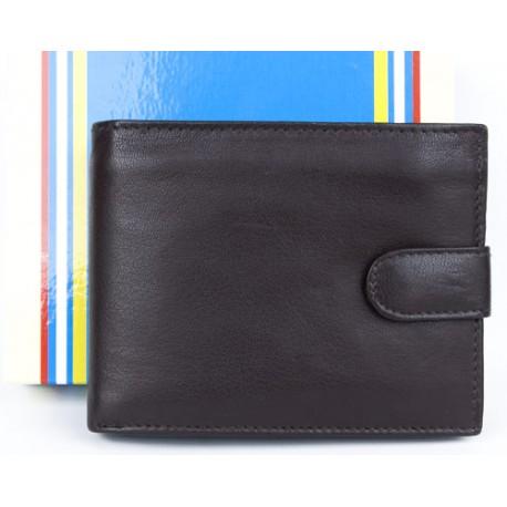 Kvalitní hnědá kožená peněženka s upínkou