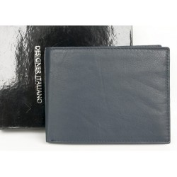 Tmavě modrá kožená peněženka Designer Italiano