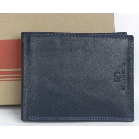 Tmavě šedomodrá kožená peněženka Romeo Gigli