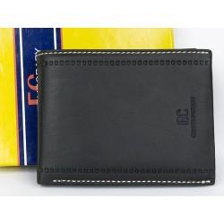 Velmi tmavě šedá velká peněženka z příjemné kůže
