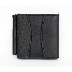 Černá maličká kožená peněženka - dolarka s kapsičkou