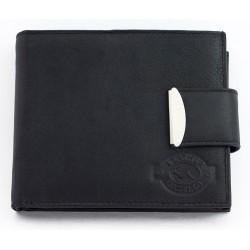 Kožená peněženka Gazello z příjemné měkké kůže s okovanou upínkou
