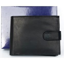 Černá kožená peněženka z měkké kůže