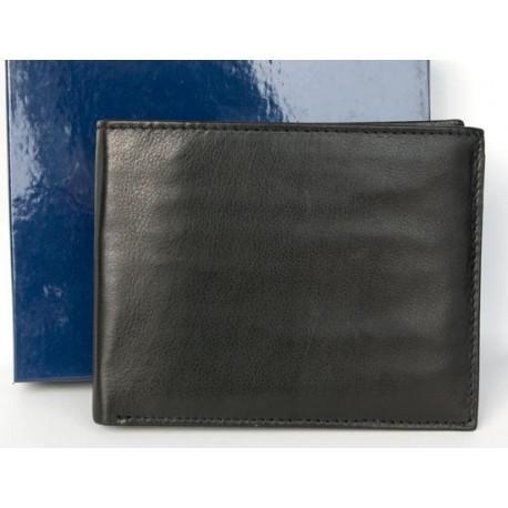 Kožená peněženka z měkké černé pravé kůže