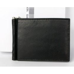 Kožená peněženka - dolarka z měkké černé kůže