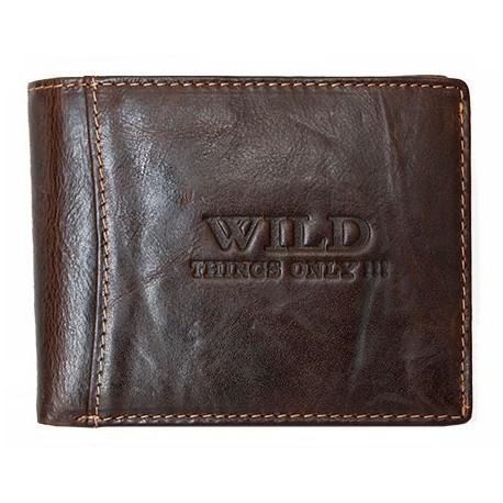 Kožená peněženka Wild z hlazené kůže