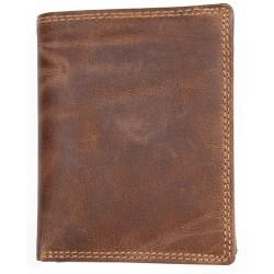 Velká prostorná peněženka z pevné hovězí kůže bez podšívky
