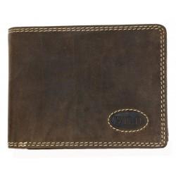 Tmavě hnědá kožená peněženka Wild z pevné hovězí kůže