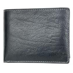 Černá velká kožená peněženka Tillberg