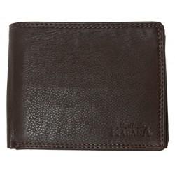 Kožená peněženka Kabana z tmavě hnědé jemné kůže