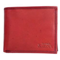 Pánská kožená červeno-černá peněženka Kabana