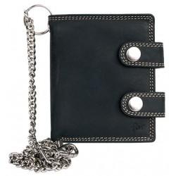 Pánská tmavě šedá malá kapesní peněženka s řetězem