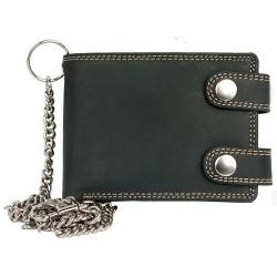Pánská malá kapesní peněženka s řetězem