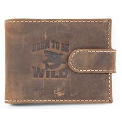 Kožené pouzdo na karty Born to be wild se žralokem