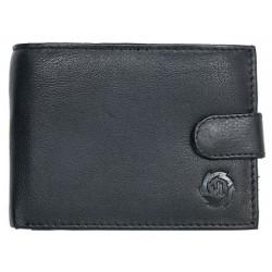 Černá pánská kožená peněženka z měkké kůže