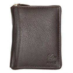 Peněženka Bull Leder z tmavě hnědé kůže dokola na kovový zip