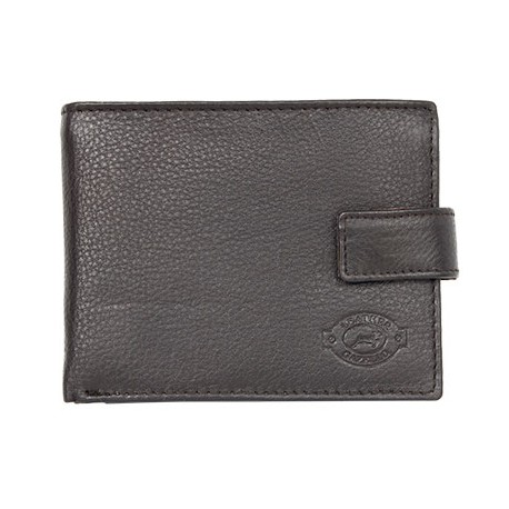 Velmi tmavě hnědá kožená peněženka kompaktní velikosti Gazello