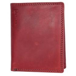 Celá kožená tmavě červená peněženka Pedro z kvalitní pevné kůže