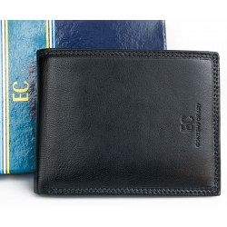 Kvalitní černá kožená peněženka EC Contemporary z příjemné měkké kůže