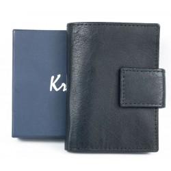 Kožené černé pouzdro Kristy.X na 14 platebních a jiných karet a bankovky