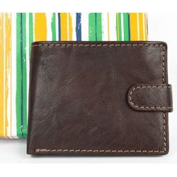 Malá kožená kapesní hnědá peněženka se sponou