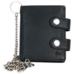 Pánská malá černá kapesní peněženka s řetězem