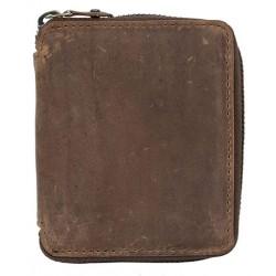 Pánská malá kapesní peněženka na kovový zip