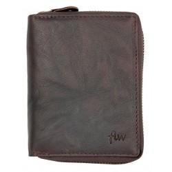 Pánská peněženka z přírodní olejované kůže dokola na kovový zip