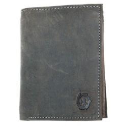 Velká šedá prostorná peněženka