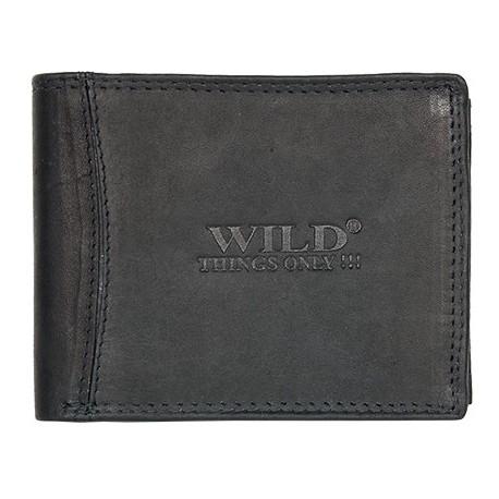 Pánská celokožená černá peněženka Wild
