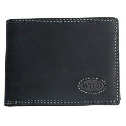 Pánská kvalitní celokožená peněženka temně šedá Wild
