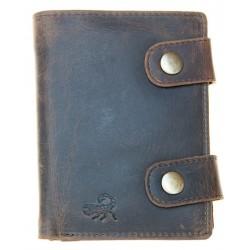 Celá kožená peněženka se škorpionem a dvěma upínkami