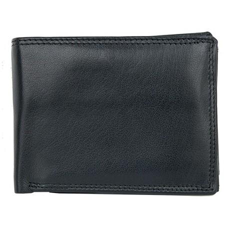 Kožená peněženka z měkké kvalitní kůže bez značek a nápisů s trojitou přihrádkou na bankovky