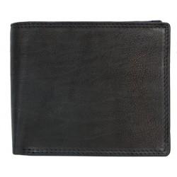 Kožená peněženka s místem na 14 karet napříč a rozvírací kapsičkou na mince