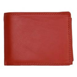 Klasická červená pánská kožená peněženka HMT
