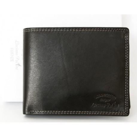 Luxusní kožená peněženka Luciano Pollini z kvalitní černé kůže