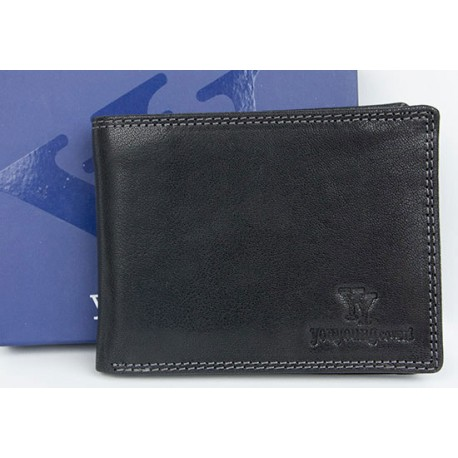 Kožená peněženka You Young Coveri z pevné pravé kůže