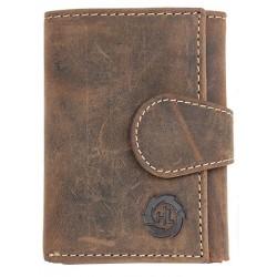 Malá kožená peněženka z hnědé přírodní kůže