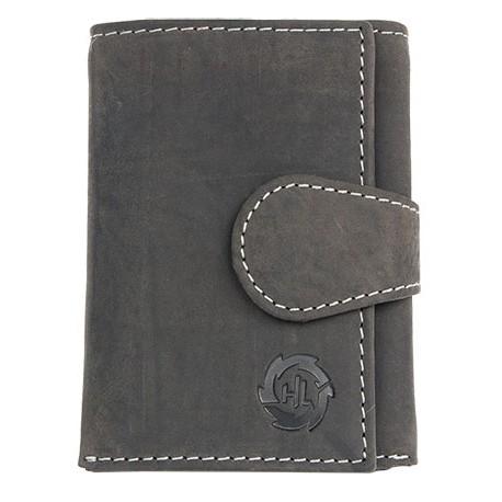 Malá kožená peněženka z šedé přírodní kůže