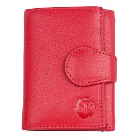Malá červená kožená peněženka