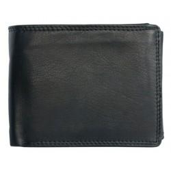 Kožená peněženka bez značek a nápisů