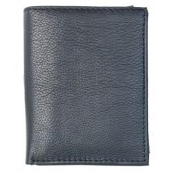 Kvalitní černá celá kožená peněženka bez značek a nápisů