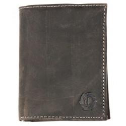 Pánská šedá celokožená peněženka šedá HL