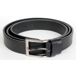 Pánský černý kožený opasek šířka 28 mm, 130 cm dlouhý. Pro obvod pasu 115.