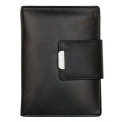 Černá unisex kožená peněženka HMT